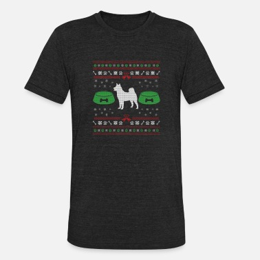Ugly Dog Dog ugly sweater gift - Unisex Tri-Blend T-Shirt