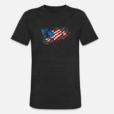 4th Line Funny Novelty Gift For 4th of July - Unisex Tri-Blend T-Shirt