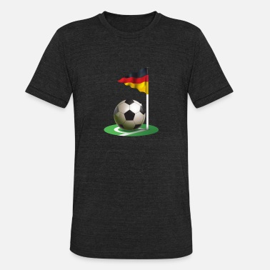 Corner Kick Corner kick Soccer Football german flag - Unisex Tri-Blend T-Shirt