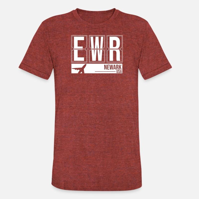 Ewr Newark New Jersey Usa Airport Code Unisex Tri Blend T Shirt