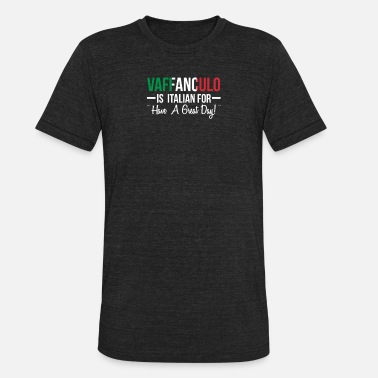 Italian Pride Vaffanculo Is Italian For Have A Great Day - Unisex Tri-Blend T-Shirt