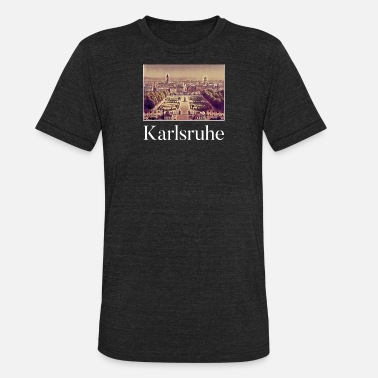Karlsruhe Karlsruhe City Skyline Sights Silhouette - Unisex Tri-Blend T-Shirt