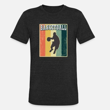 Basketball Old School Vintage Retro Old School Basketball - Unisex Tri-Blend T-Shirt