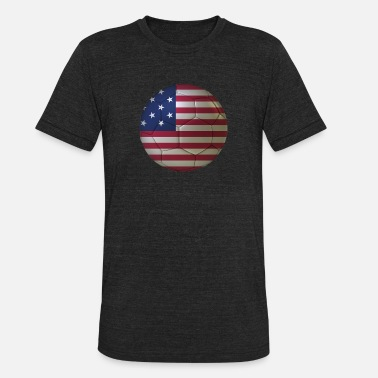 Usa Mens Soccer 4th Of July Soccer USA - Unisex Tri-Blend T-Shirt