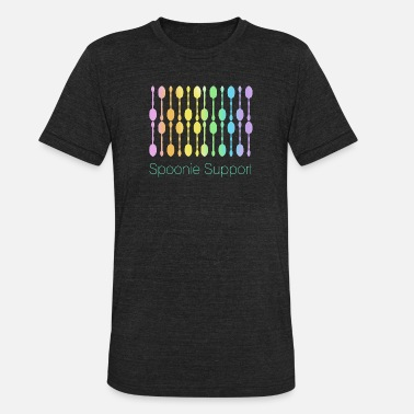 62f79f082 Rainbow Gradient Spoonie Support! (Rainbow Gradient) - Unisex Tri-Blend T-