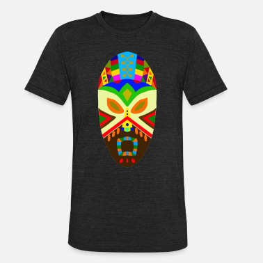 African Mask Art Design Traditional African Mask - Unisex Tri-Blend T-Shirt