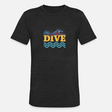 Sports Diver Gift Diving - Unisex Tri-Blend T-Shirt