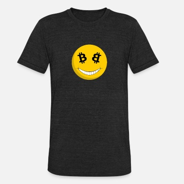 Guy Smiley Bitcoin Smiley T-Shirt - Unisex Tri-Blend T-Shirt