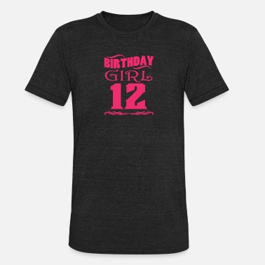 Aged 12 Years Old Birthday Girl 12 years old - Unisex Tri-Blend T-Shirt