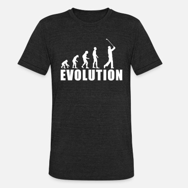 Golf Woman Funny EVOLUTION GOLF / FOR WOMAN, MAN AND KIDS - Unisex Tri-Blend T-Shirt