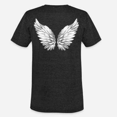 Angelwings Angel Wings White Silver Angelwings - Unisex Tri-Blend T-Shirt