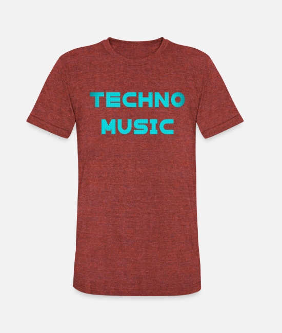 Raver T-Shirts - Techno Music Rave Music Electronic Dance clubbing - Unisex Tri-Blend T-Shirt heather cranberry