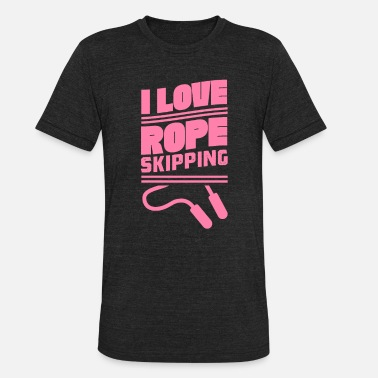 Roped Rope Skipping Ropes - Unisex Tri-Blend T-Shirt