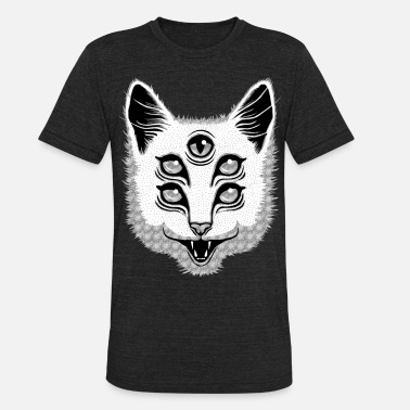 Scary Creep Cat - Unisex Tri-Blend T-Shirt