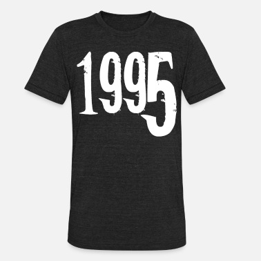 Date Of Birth Year of birth 1995 Date of birth - Unisex Tri-Blend T-Shirt