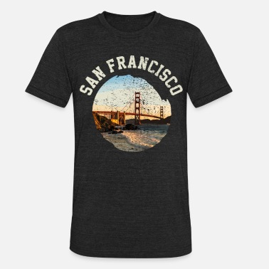 Golden Gate San Francisco Golden Gate - Unisex Tri-Blend T-Shirt