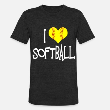 I Love Softball I Love Softball - Unisex Tri-Blend T-Shirt