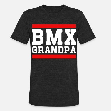 Bmx Grandfather BMX Grandpa - Unisex Tri-Blend T-Shirt