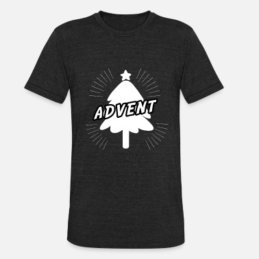 Advent Advent with Christmas tree - Unisex Tri-Blend T-Shirt