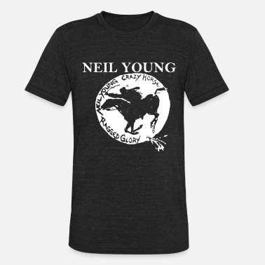 Young Neil Young Crazy Horse Unisex Retro Rock meme - Unisex Tri-Blend T-Shirt