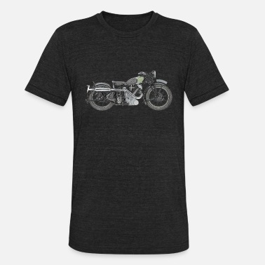 Panther 1935 Panther Motorcycle color.png - Unisex Tri-Blend T-Shirt