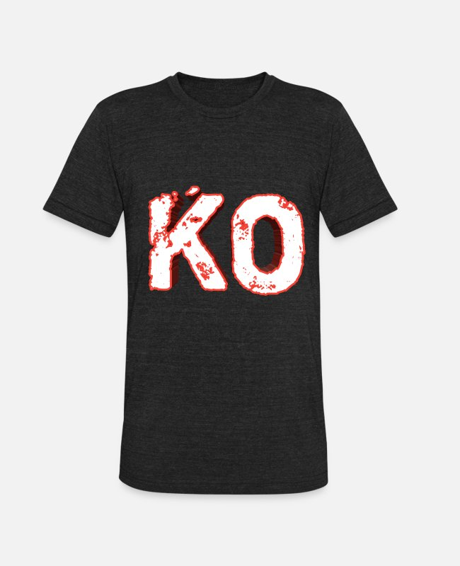 Knock T-Shirts - Knock out - KO - Unisex Tri-Blend T-Shirt heather black