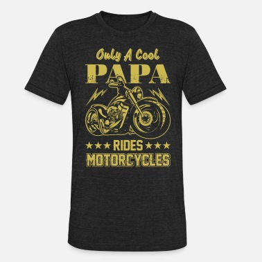 Day Mens Grandfather Fathers Day Cool Papa Motorcycle - Unisex Tri-Blend T-Shirt