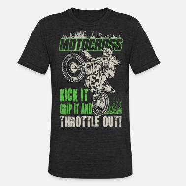 Dirt Bike Girl Dirt Bike Throttle Out - Unisex Tri-Blend T-Shirt