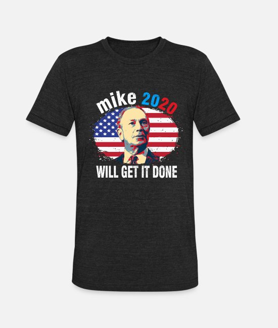 Elections T-Shirts - Mike Bloomberg for President Mike 2020 - Unisex Tri-Blend T-Shirt heather black