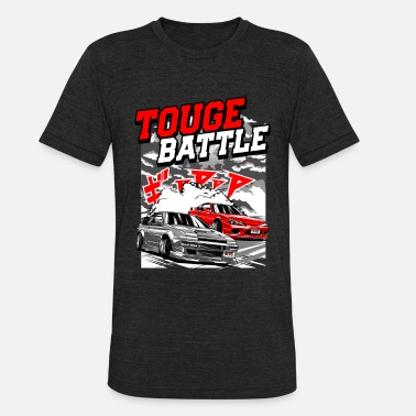 Touge TOUGE BATTLE - Unisex Tri-Blend T-Shirt