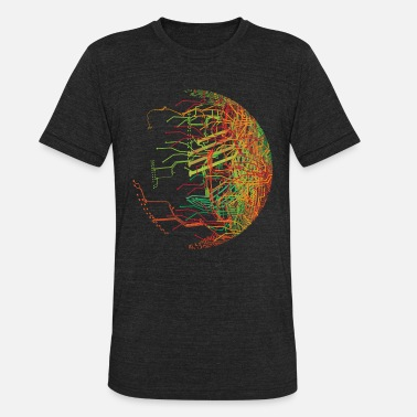 Electronics Cpu Circuit Board - Unisex Tri-Blend T-Shirt