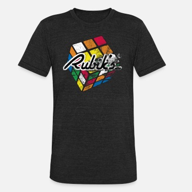 Cube Rubik's Cube Distressed and Faded - Unisex Tri-Blend T-Shirt