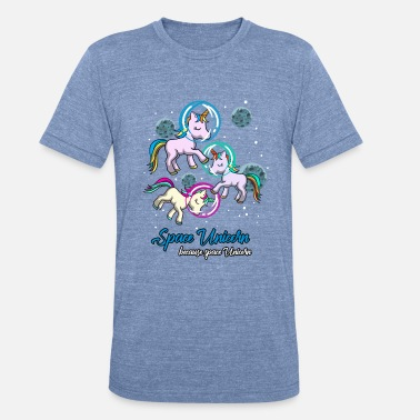 Mythical Space Unicorn Galaxy Horse FabledBeast Fauna Gift - Unisex Tri-Blend T-Shirt