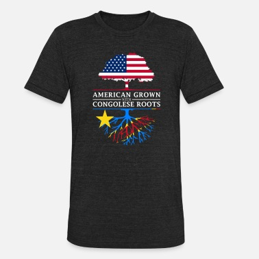 Congolese American Grown with Congolese Roots Democratic - Unisex Tri-Blend T-Shirt