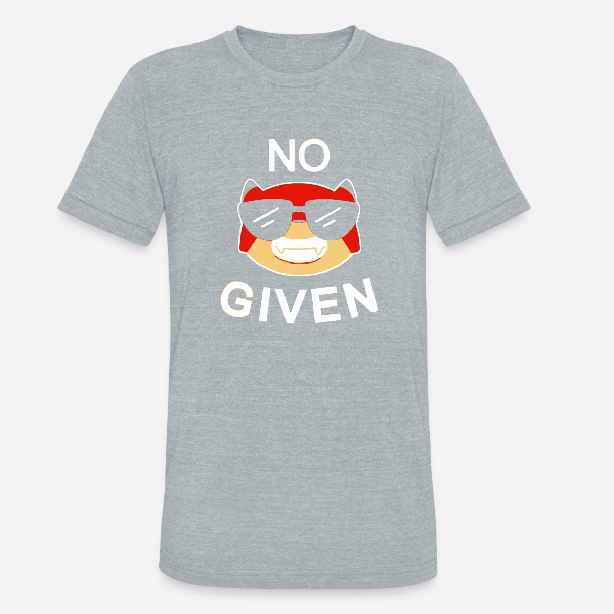 NO Given Unisex Tri-Blend T-Shirt - heather gray