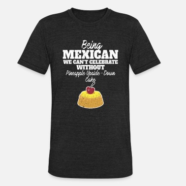 Upside Being Mexican we can't celebrate without - Unisex Tri-Blend T-Shirt