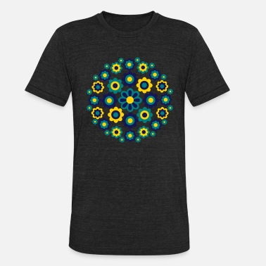 Cheerful Madness Floral Wheel by Cheerful Madness!! - Unisex Tri-Blend T-Shirt