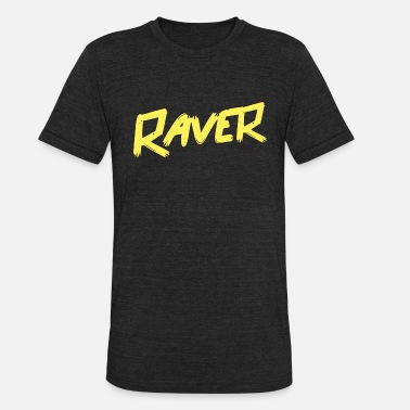 Techno Music Raver - Techo - Unisex Tri-Blend T-Shirt