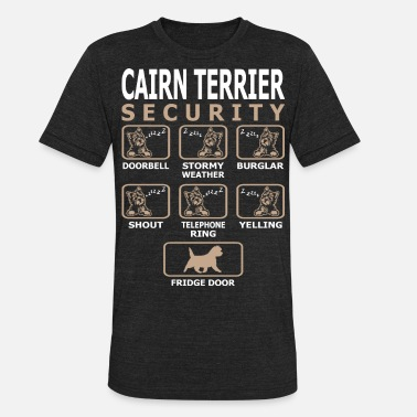 Cairn Terrier Dog Security Pets Love Funny Tshirt - Unisex Tri-Blend T-Shirt