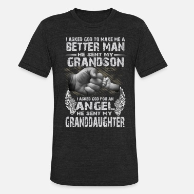 Grandad Grandsons And Angel Granddaughters || T-shirts - Unisex Tri-Blend T-Shirt