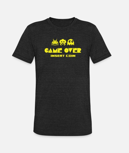Video Game T-Shirts - VIDEO GAME - Unisex Tri-Blend T-Shirt heather black