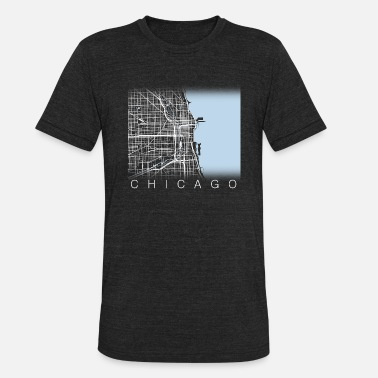 Chicago Chicago Streets - Unisex Tri-Blend T-Shirt
