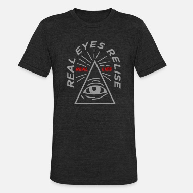Bilderberg Real Eyes Realise Real Lies - Unisex Tri-Blend T-Shirt