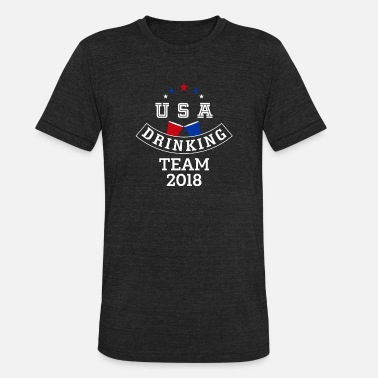 Team Usa USA Drinking Team 2018 - Unisex Tri-Blend T-Shirt