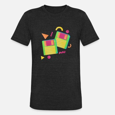 Cube 90s floppy disc 80s Rocks VHS, Cassette Tape - Unisex Tri-Blend T-Shirt
