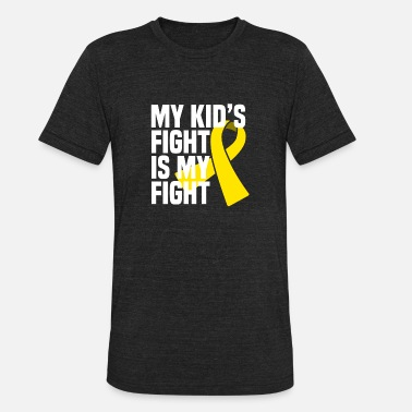 Wilms Tumor Awareness Proud Parents of Childhood Cancer Leukaemia kid - Unisex Tri-Blend T-Shirt