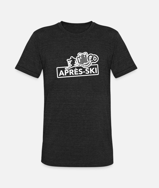 Aprèsski T-Shirts - Après Ski - Unisex Tri-Blend T-Shirt heather black