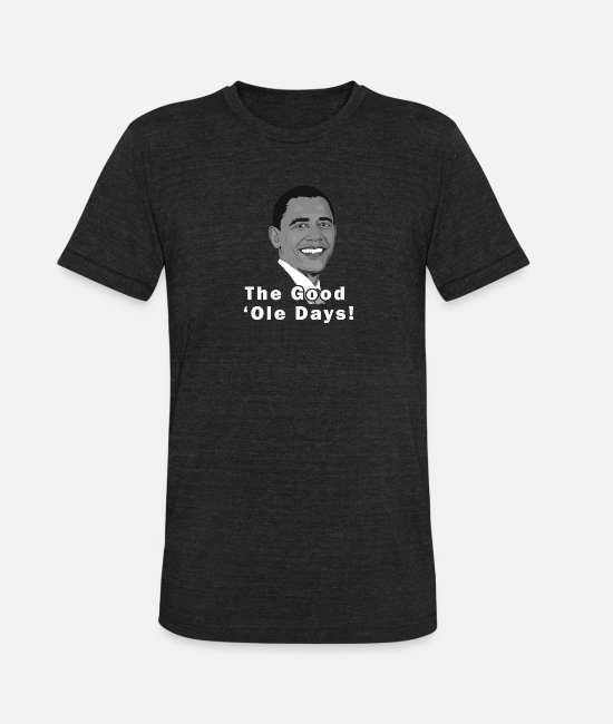 Miss Obama T-Shirts - Bye Obama Trump Is Here - Unisex Tri-Blend T-Shirt heather black