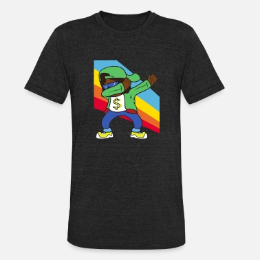 Rapper Retro Vintage Pop Art Dabbing Dab Rapper Music - Unisex Tri-Blend T-Shirt