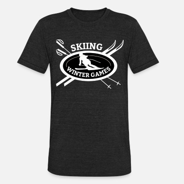 Winter Games Skiing Winter Games - Unisex Tri-Blend T-Shirt